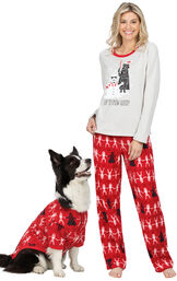 Models wearing Red Star Wars PJs for Pet and Owner image number 0