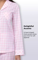 Delightful Accents - A heart-shaped chest pocket shows your love for soft pajamas image number 3