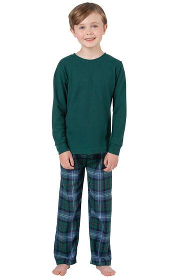 Heritage Plaid Thermal-Top Boys Pajamas