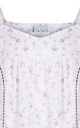 Model wearing Nancy Nightgown in Lilac Rose for Women image number 7