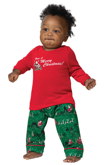 Santa's Sleigh Infant Pajamas
