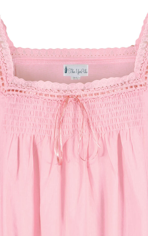 Model wearing Martha Nightgown in Pink for Women image number 4