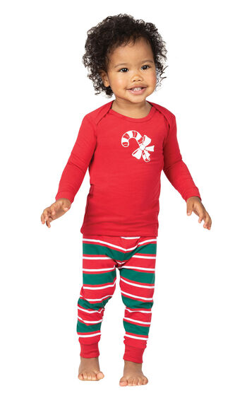 Christmas Stripe Infant Pajamas
