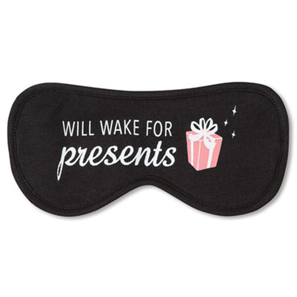 Eyemask - Will Wake For Presents  -Black image number 0