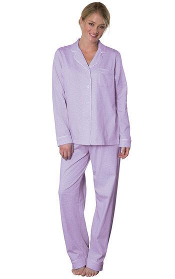 Classic Polka-Dot Boyfriend Pajamas - Lavender