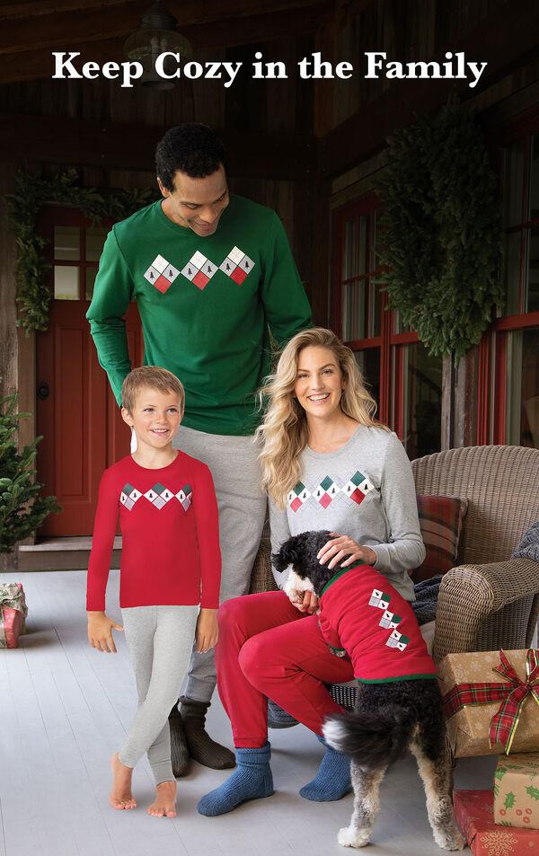 Holiday Argyle Family Set image number 1