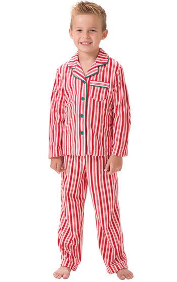 Candy Cane Fleece Boys Pajamas