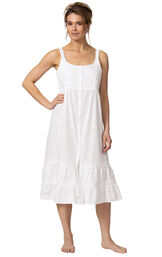 Model wearing Ruby Nightgown in White for Women image number 3
