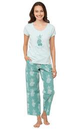Margaritaville Breezy Bedtime Pajamas - Turquoise image number 0