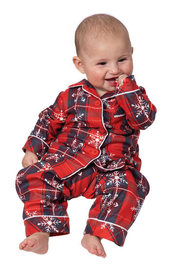 Americana Plaid Snowflake Infant Pajamas
