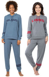 Relaxed and Loved Hoodie Pajama Gift Set image number 0