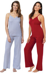 Blue and Red Naturally Nude Cami PJs Gift Set image number 0