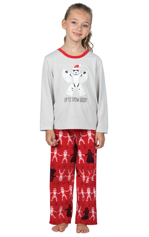 Model wearing Red Star Wars PJ for Girls image number 0