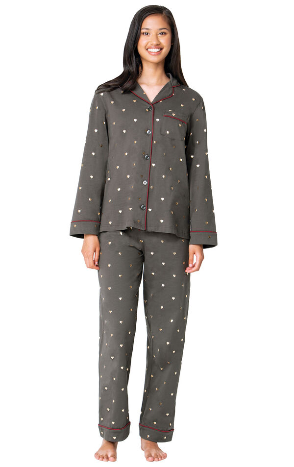 Heart of Gold Boyfriend Pajamas image number 0