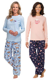 Mugs and Kisses PJs and Dog Tired Jersey-Top PJs image number 0