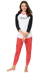 Black and Red Friends Jogger PJ - Women image number 0