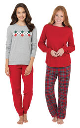 Holiday Argyle and Stewart Plaid PJs image number 0