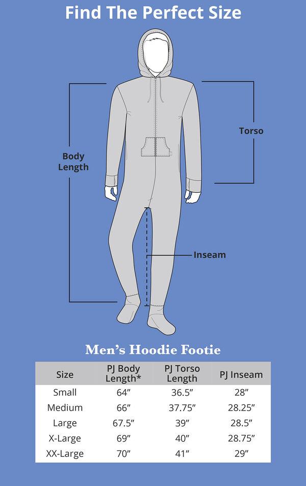 Men's Hoodie-Footie Size Chart image number 4