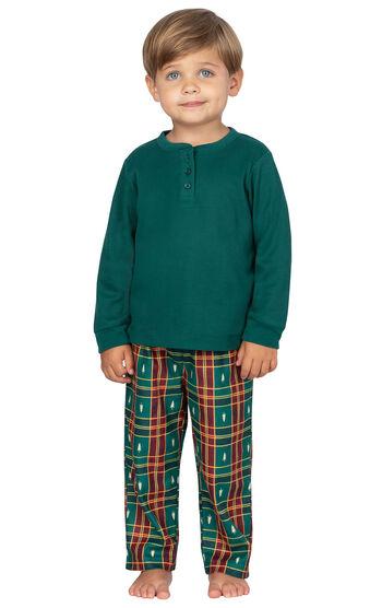 Christmas Tree Plaid Toddler Pajamas