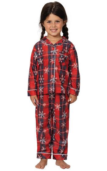 Americana Plaid Snowflake Toddler Pajamas