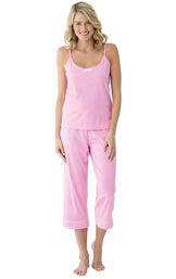 Model wearing Pink Pin Dot Cami PJ for Women image number 0