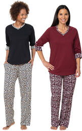 Luxurious Leopard Print Pajama Gift Set image number 0