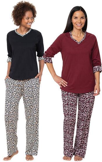 Luxurious Leopard Print Pajama Gift Set
