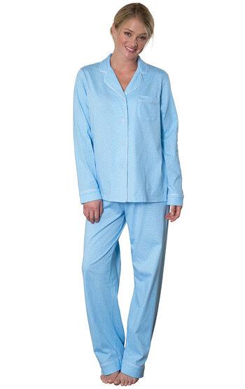 Classic Polka-Dot Boyfriend Pajamas - Blue
