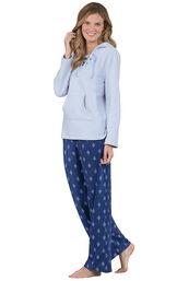 Addison Meadow PajamaGram Fleece Hoodie PJ - Blue image number 0