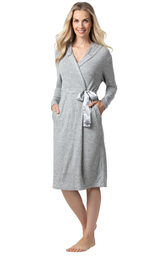 Addison Meadow|PajamaGram Robe in Gray image number 0