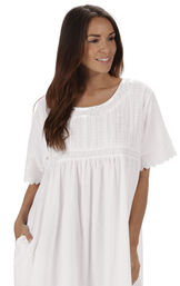 Model wearing Helena Nightgown in White for Women image number 6