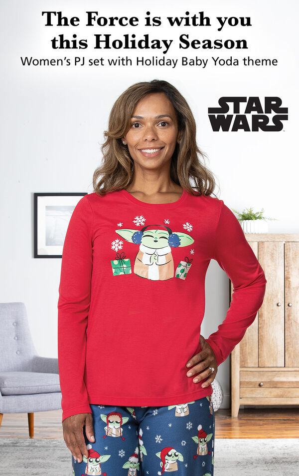 Baby Yoda Women's Pajamas image number 2