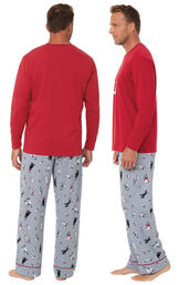 Happy Howlidays Men's Pajamas image number 1