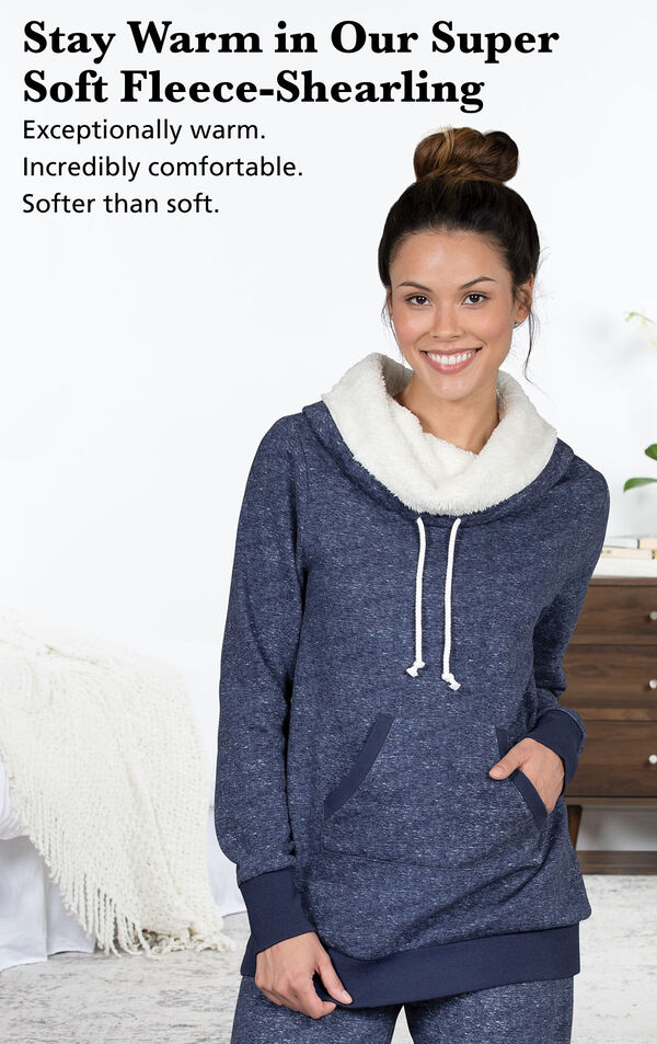 Stay Warm in Our Super Soft Fleece Shearling - exceptionally warm and comfortable image number 2