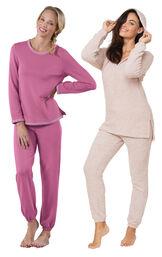 Pink Cozy Escape PJs and World's Softest PJs image number 0
