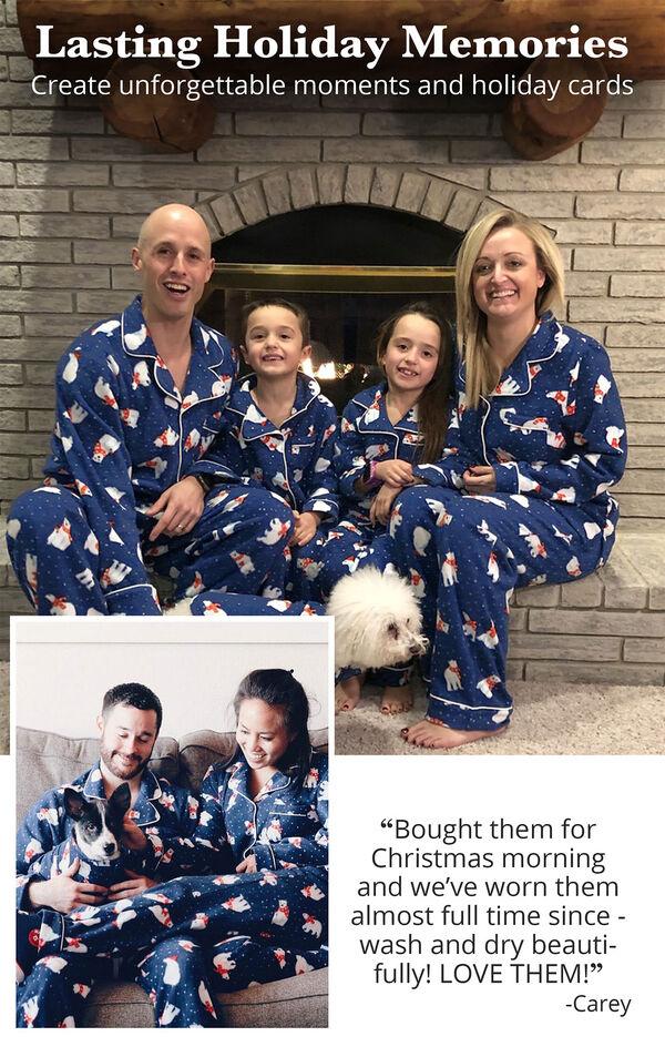 Polar Bear Fleece Matching Family Pajamas image number 2