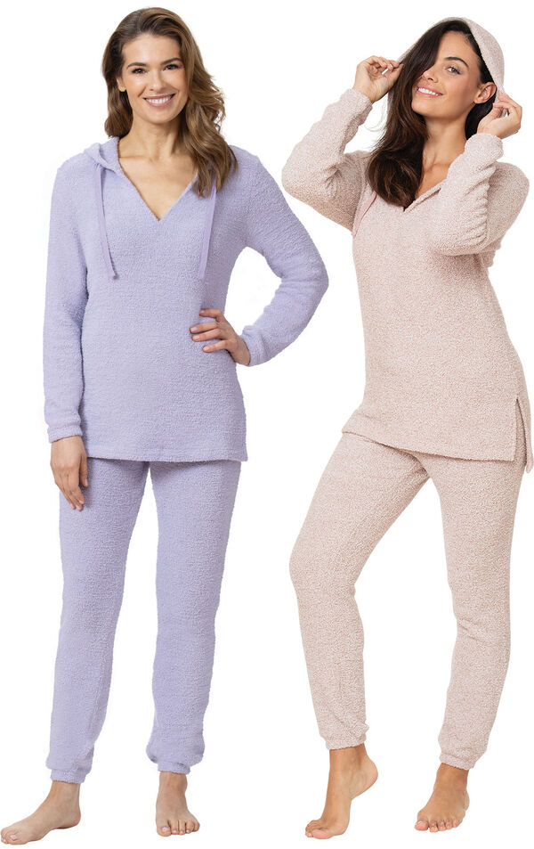 Lavender and Pink Cozy Escape Pajama Gift Set image number 0