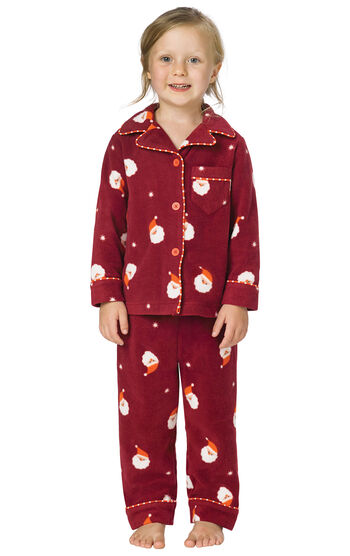 Santa Fleece Toddler Pajamas