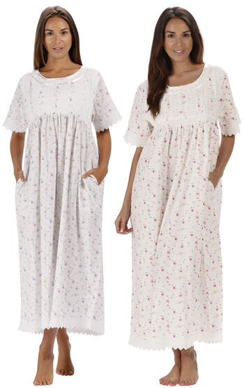 Lilac Rose & Vintage Rose Helena Nightgowns