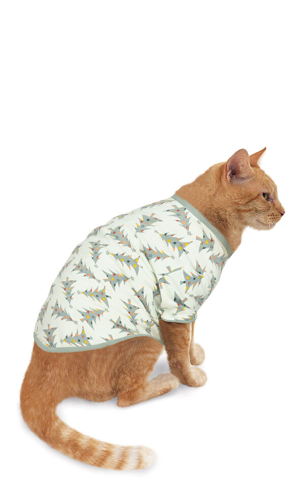 Model wearing Green Pine Tree PJ for Cats image number 0