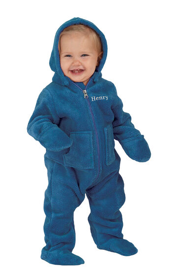 Hoodie-Footie™ for Infants - Blue