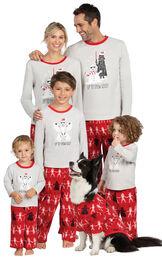 Models wearing Red Star Wars Matching Family Pajamas image number 0