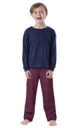 Deep Red Print PJ for Youth image number 0