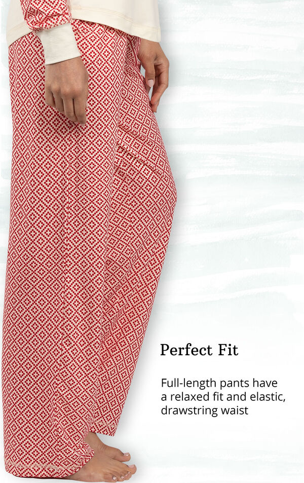 Perfect Fit - full-length pants have a relaxed fit and elastic, drawstring waist image number 4