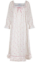 Model wearing Martha Nightgown in Vintage Rose for Women image number 2