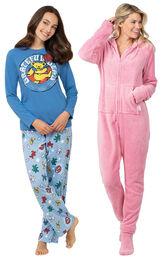 Grateful Dead PJs and Pink Hoodie-Footie image number 0