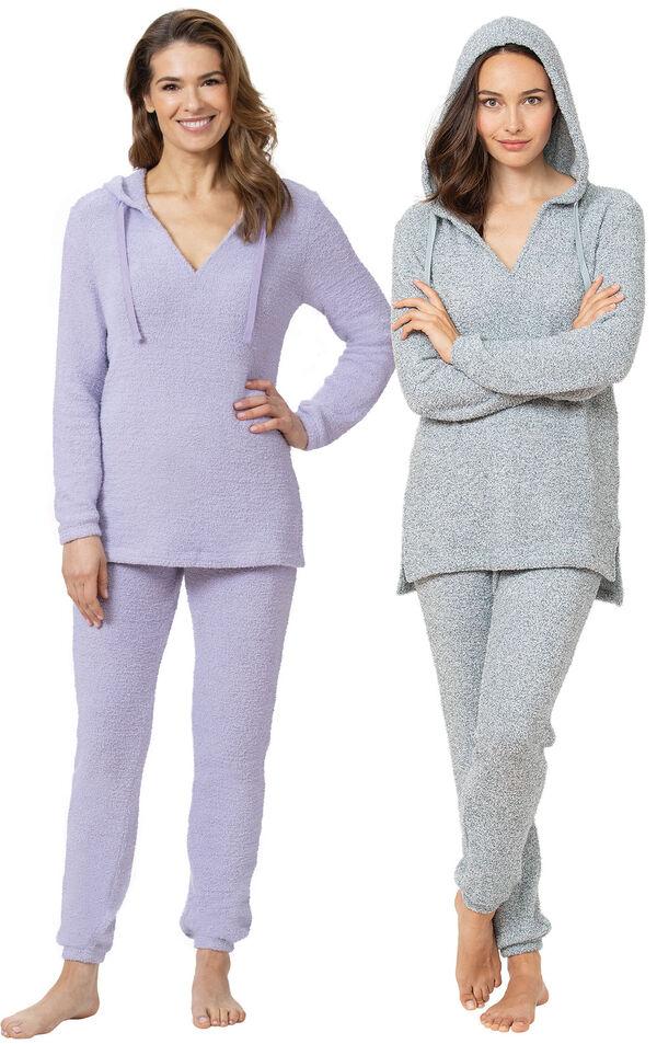 Lavender and Blue Cozy Escape Pajama Gift Set image number 0