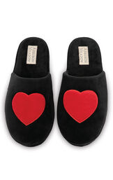 Heart Slippers - Black-AMW-W2962-SM