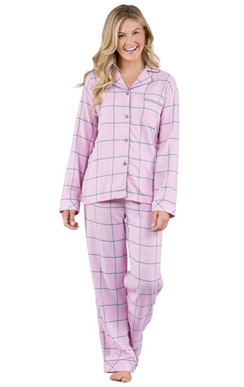 World's Softest Flannel Petite Boyfriend Pajamas - Pink