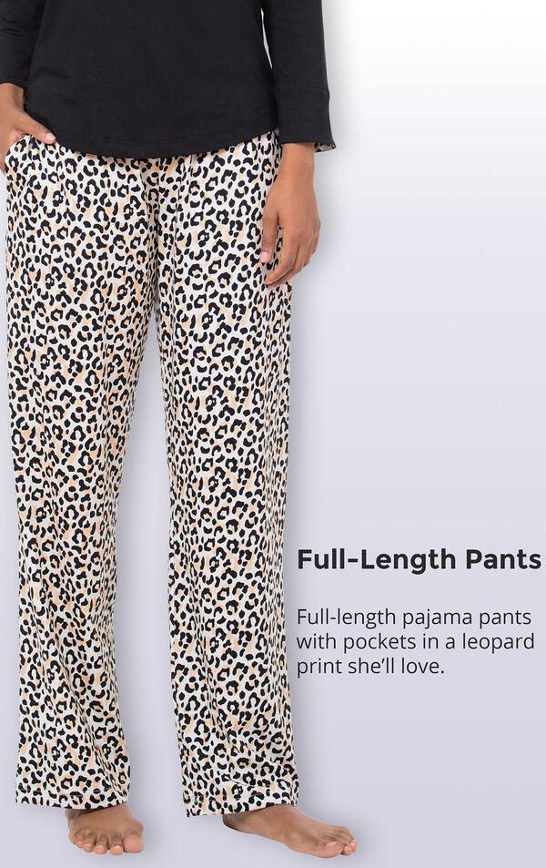 Luxurious Leopard Print Pajamas image number 4